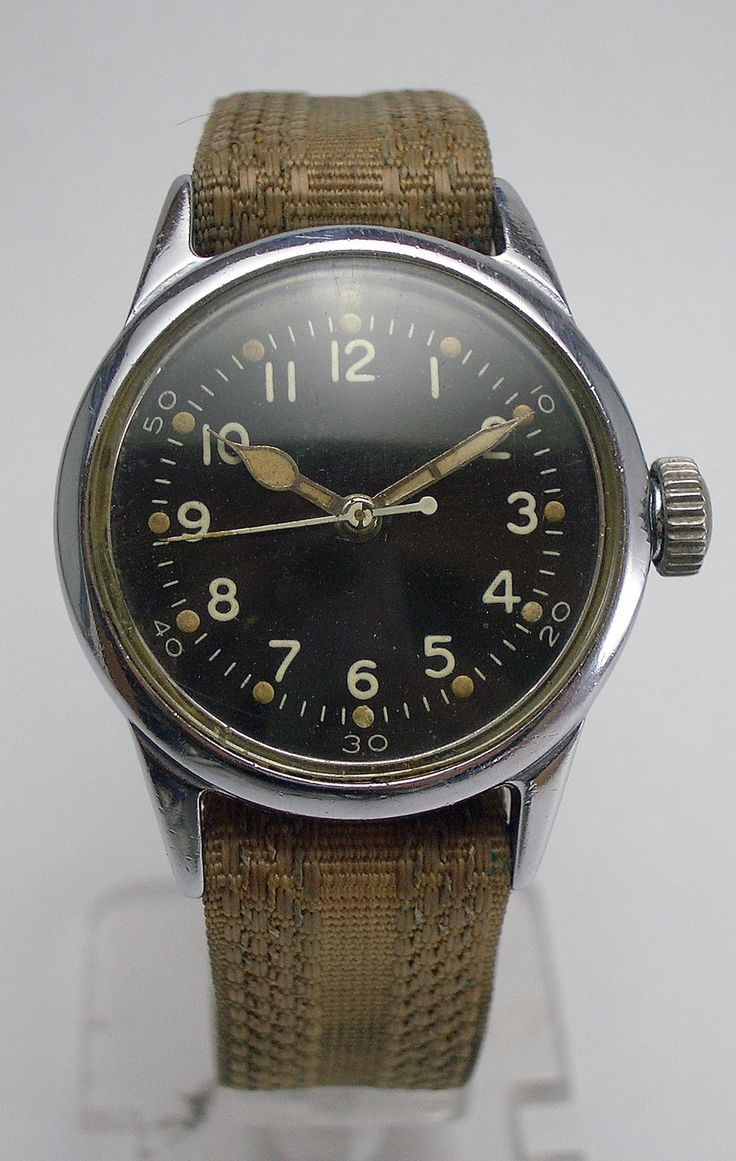RARE WWII Military Hamilton 2987 18J USMC Navy Aviators Hack Watch