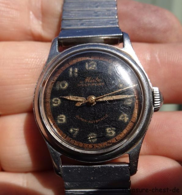Rare Vintage WWII MIDO Multifort Super Automatic Bumper Military Wrist Watch