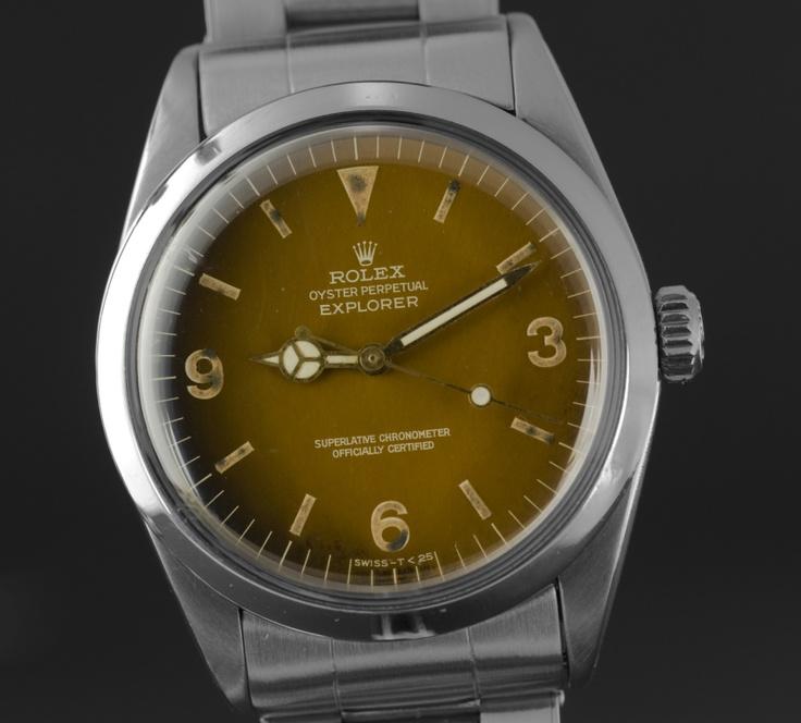 Rolex Explorer ref 1016, Tropical gilt dial. Nice!