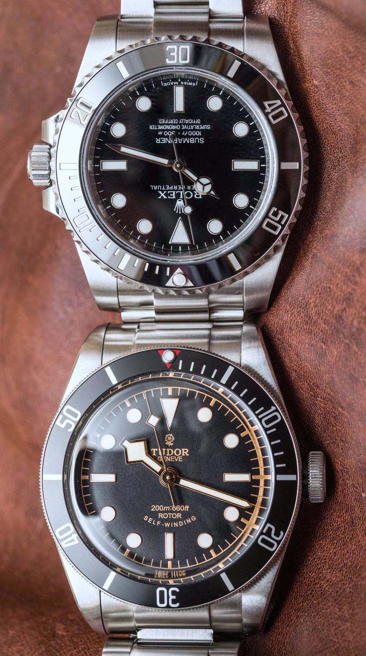 Rolex Submariner 114060 'No Date' Vs. Tudor Heritage Black Bay Black Compari...