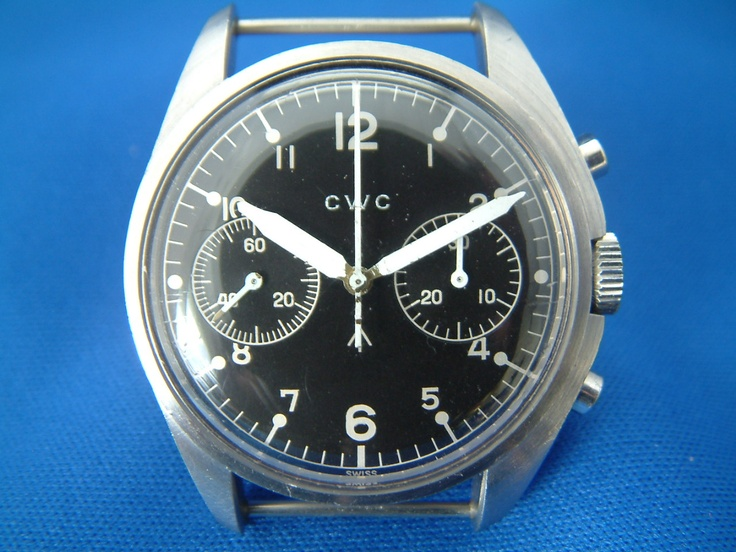 Royal Navy bi-compax CWC Chronograph, such a cool watch