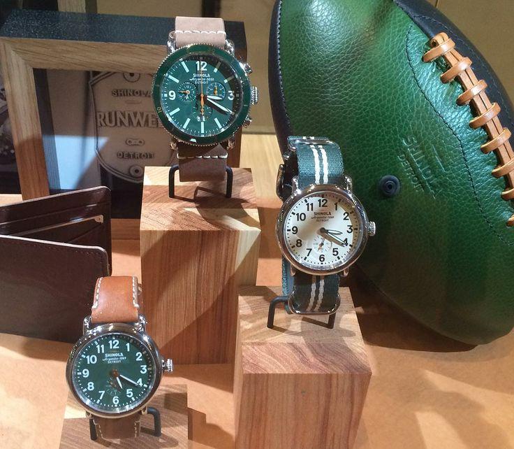 Shinola Display @ #Couture2014 - Shinola watches contain Detroit-built quartz mo...