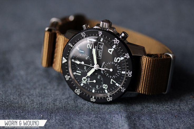 Sinn Flieger 103 St chronograph. 41mm stainless steel case, Valjoux ca. 7750 aut...