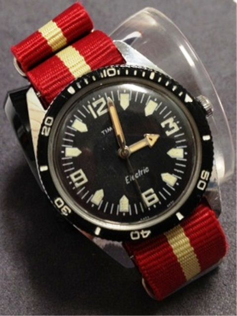 Timex Skin (?) Diver vintage watch. Don't know if the watch was a functional...