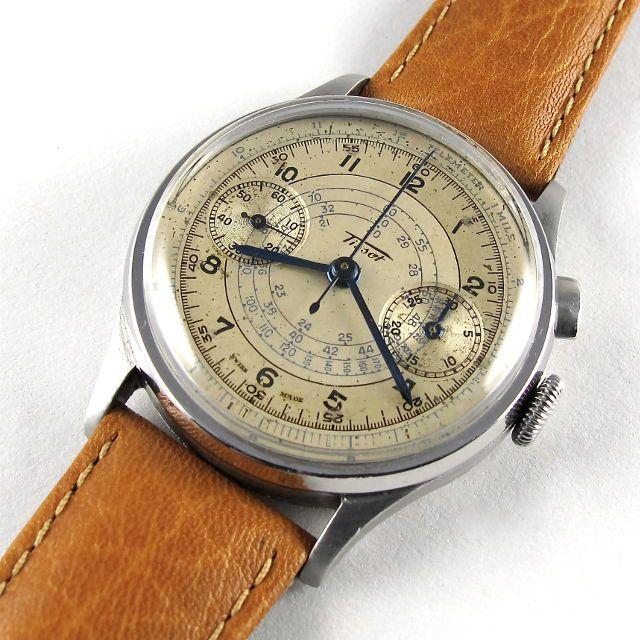 Steel Tissot vintage chronograph wristwatch, circa 1938