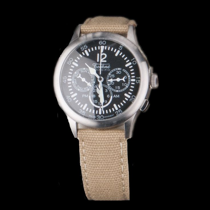 UNIONMADE - GIFTSHOP - Merlin 296 Steal Quartz 280mm Watch with Canvas Strap in ...