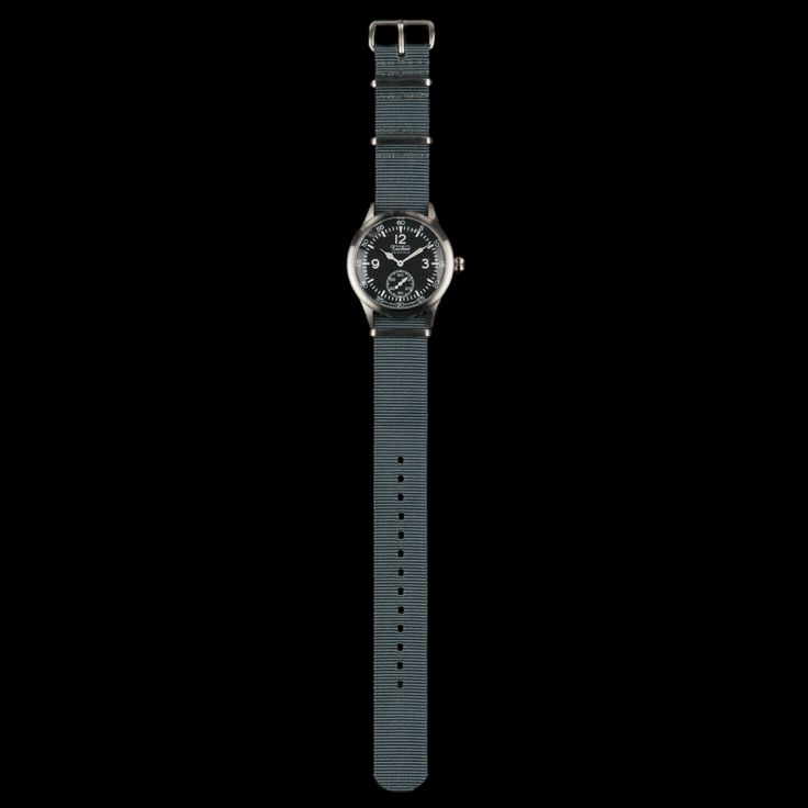 UNIONMADE - Merlin 246 Steal Quartz 280mm Watch with Nato Strap in Grey
