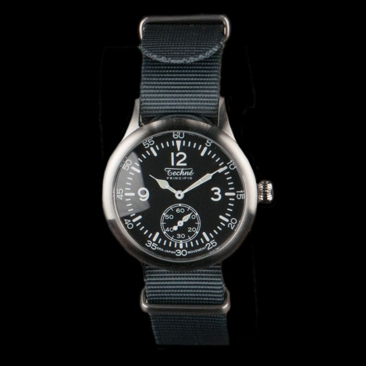 UNIONMADE - Techne - Merlin 246 Steal Quartz 280mm Watch with Nato Strap in Grey