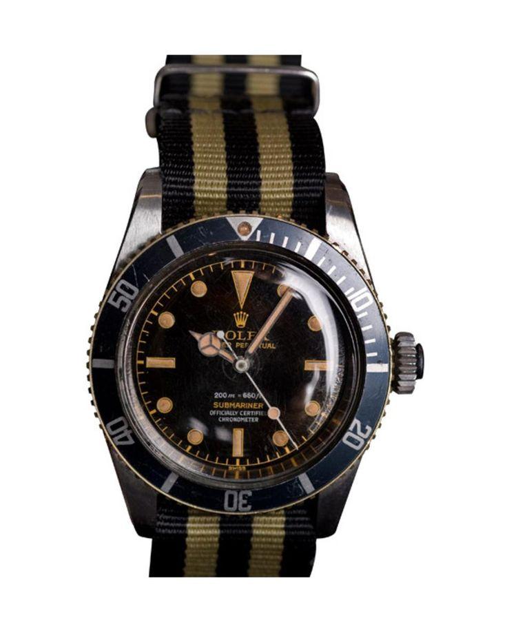 Very Rare Vintage Rolex 6538 James Bond Big Crown 1974 approx $125,000