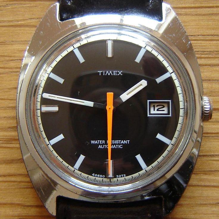 Vintage 1972 Timex Automatic Calendar Wrist Watch - British Made & FWO