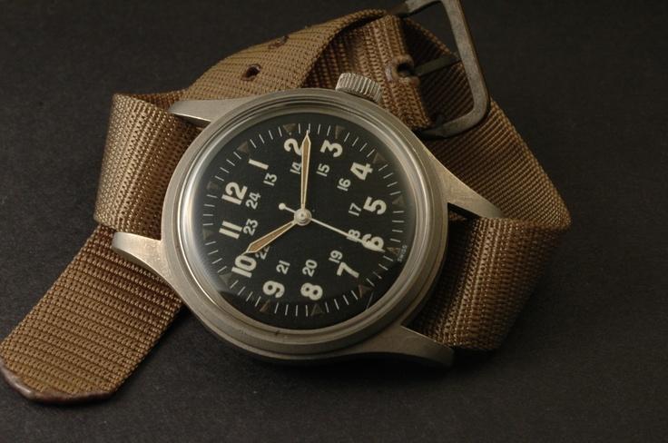 Vintage Hamilton Military Hack Watch FAPD 5101 Type 1 (SEPT 1970)  
