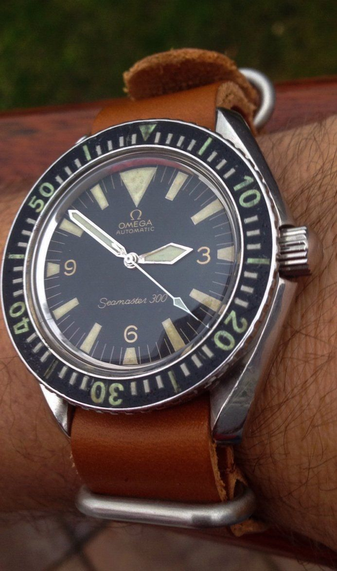 Vintage OMEGA Seamaster 300 Big Triangle Diver In Stainless Steel Circa 1960s - ...