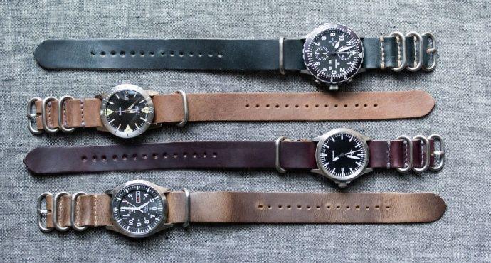 nato horwean leather wrist - Google Search
