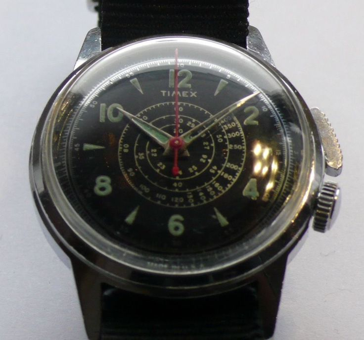 EXTREM SELTEN! ULTRA RARE! Vintage TIMEX SOUTHAMPTON Flyback Chronograph Watch ...