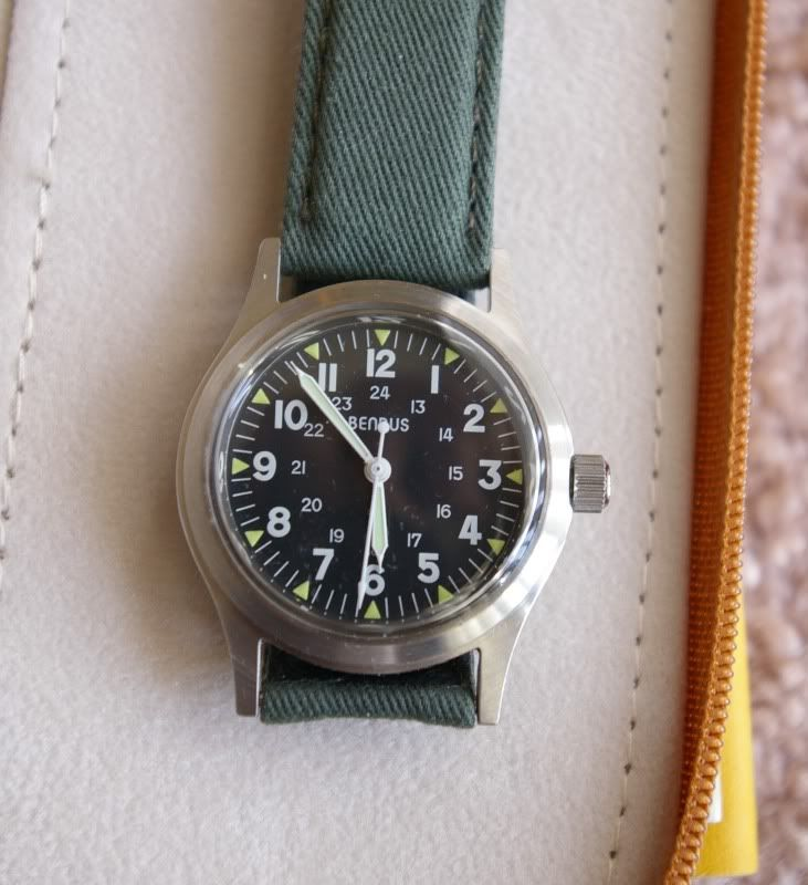 SOLD: Benrus Military Watch RE-ISSUE
