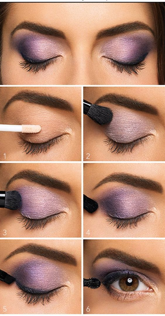 Lovely Purple Eyeshadow Tutorial For Beginners | 12 Colorful Eyeshadow Tutorials...