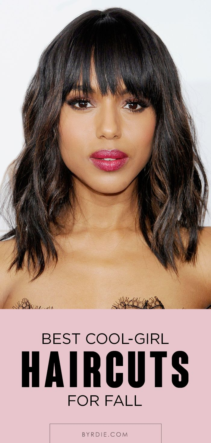 Bangs, feathery layers, lobs, and more awesome hairstyles to try this fall. // #...