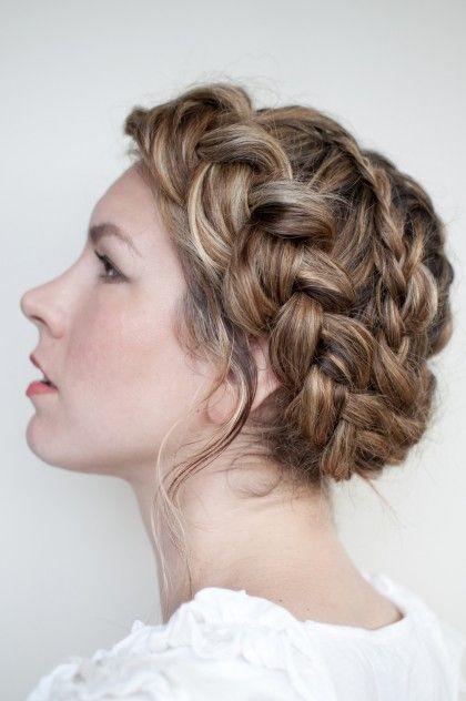 Boho braided up-do