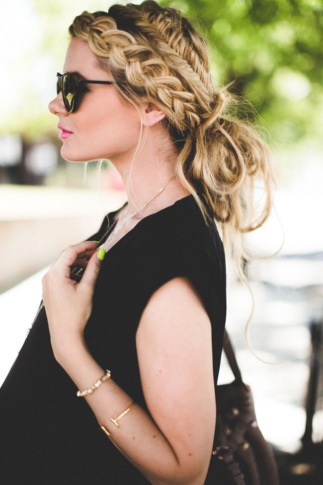 Combining a regular braid with a fishtail braid is an unexpected twist to this m...