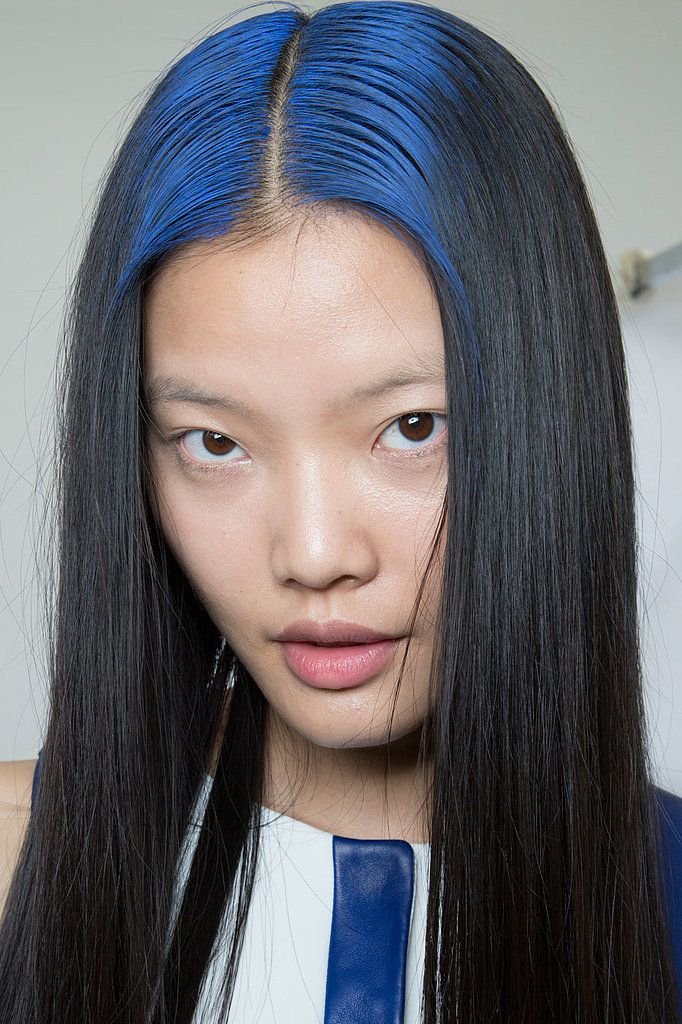 Cool blue roots (via POPSUGAR Beauty) // #Hair