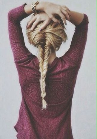 Long fishtail braid (via Jenn Sasso) // #hair #braids