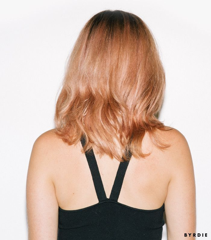 Our editor tries one of fall's coolest hair color trends—watch her makeove...