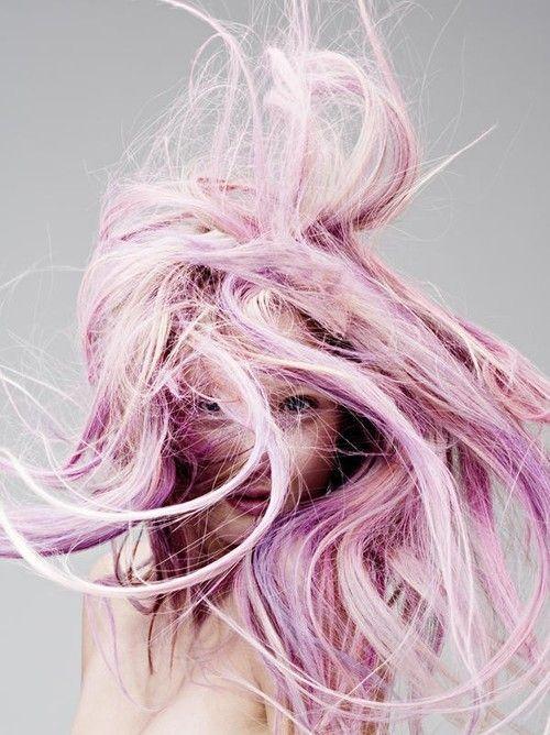 Pink/lavender hair // via Michelle Phan