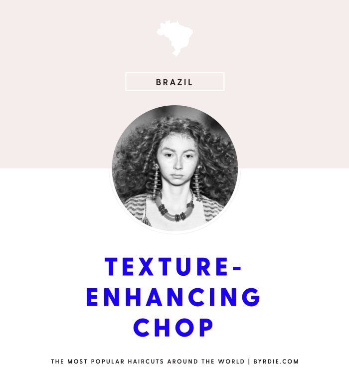 The most popular haircut in Brazil: the texture-enhancing chop