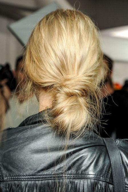 Tousled bun (via NET-A-PORTER.COM) // #hair