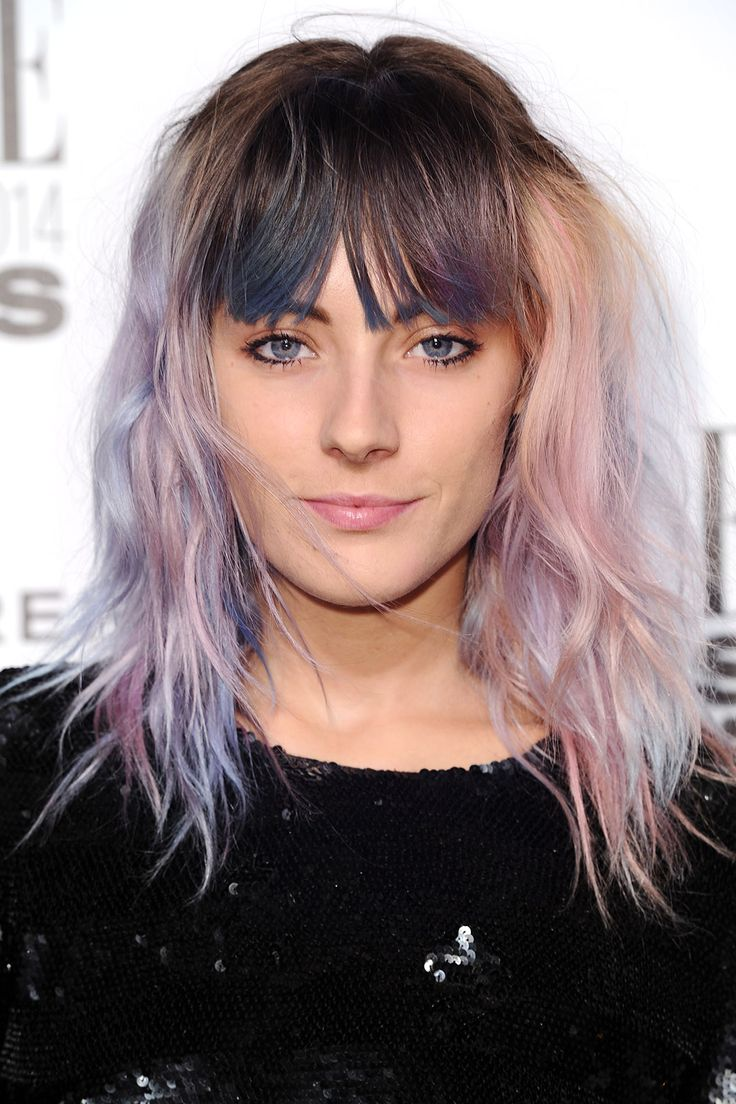 Unicorn-colored hair // #hair