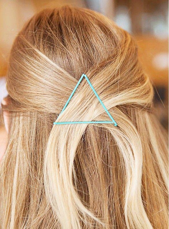 bobby pin hair art
