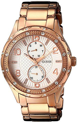 GUESS Women's U0442L3 Mid-Size Rose Gold-Tone Multi-Function Watch *** See this ...
