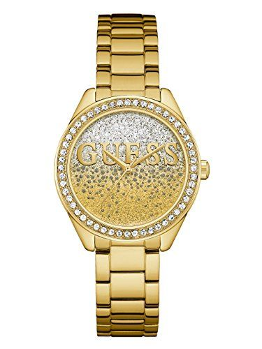 GUESS Womens Quartz Stainless Steel Casual Watch ColorGoldToned Model U0987L2 **...