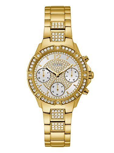 GUESS Womens Quartz Stainless Steel Casual Watch ColorGoldToned Model U1071L2 **...