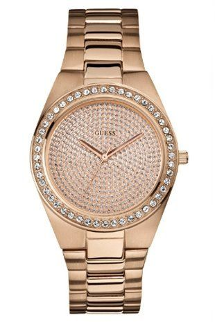 Guess Ladies Rose Gold Tone Bracelet Watch W12651L1 ** You can find more details...