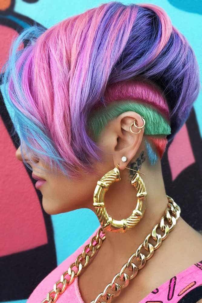 Art Deco Design #unicornhair #purplehair ❤️ Want to pull off unicorn hair? A...