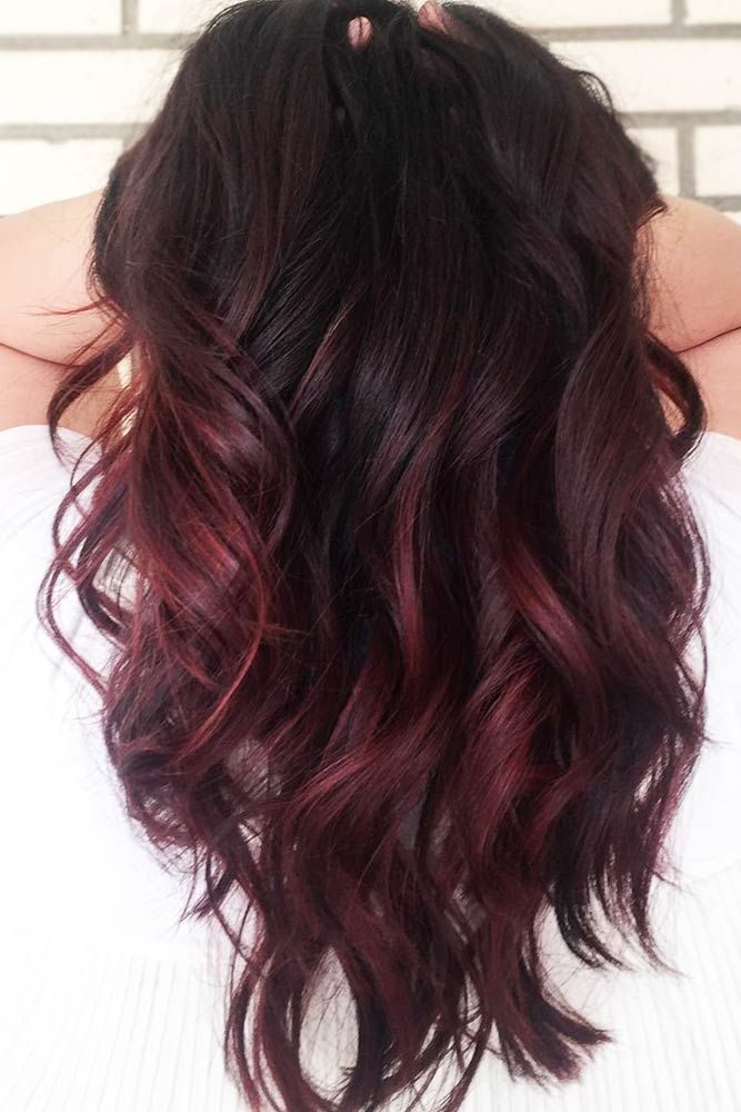 Hair Color 2017 2018 Black Cherry Hair Redhair Ombre Want