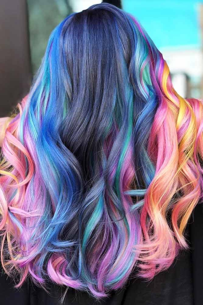 Face Framing Unicorn Balayage #unicornhair #balayage ❤️ Want to pull off uni...