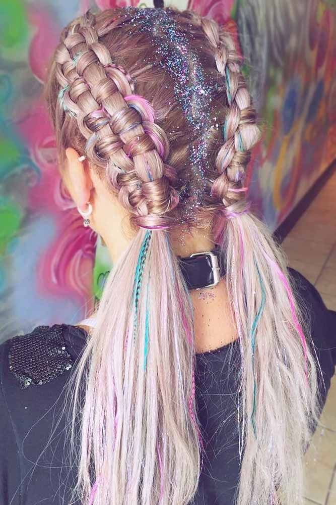 Hair Chalk #temporaryhaircolor #highlights ❤️ Want to brighten your days wit...