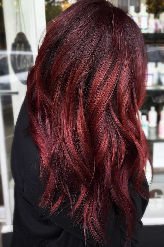 Intense Red Hair Color #redhair ❤️ Want to catch people's eyes with bold dar...