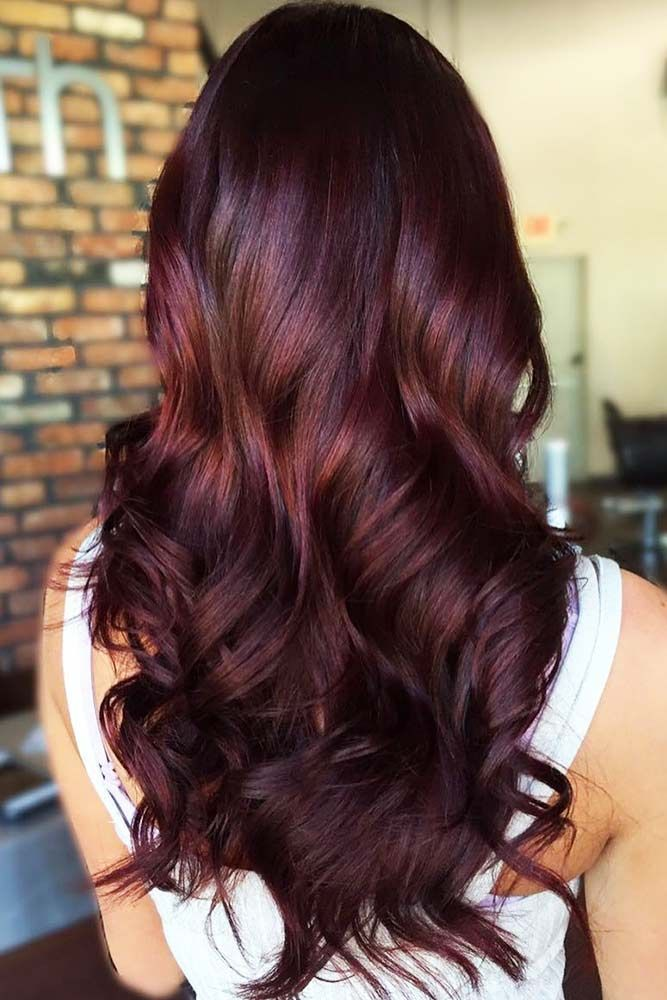 Mahogany Hair Color #redhair  ❤️ Want to catch people's eyes with bold dark ...