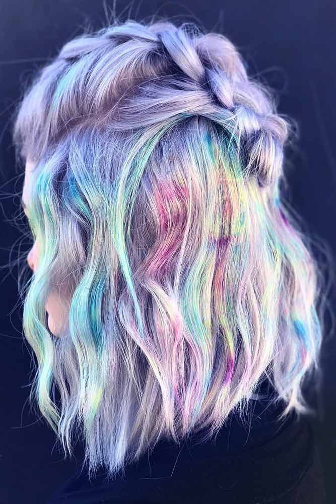 Marbling Unicorn Hair #unicornhair ❤️ Want to pull off unicorn hair? A basic...