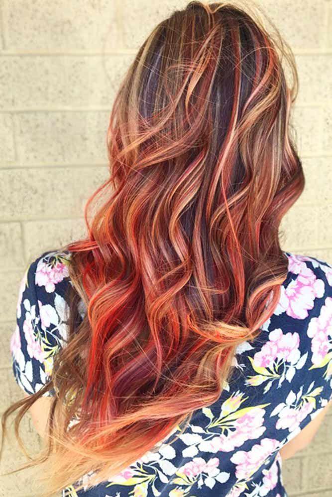 Semi-Permanent Hair Dye #temporaryhaircolor #redhair #highlights ❤️ Want to ...