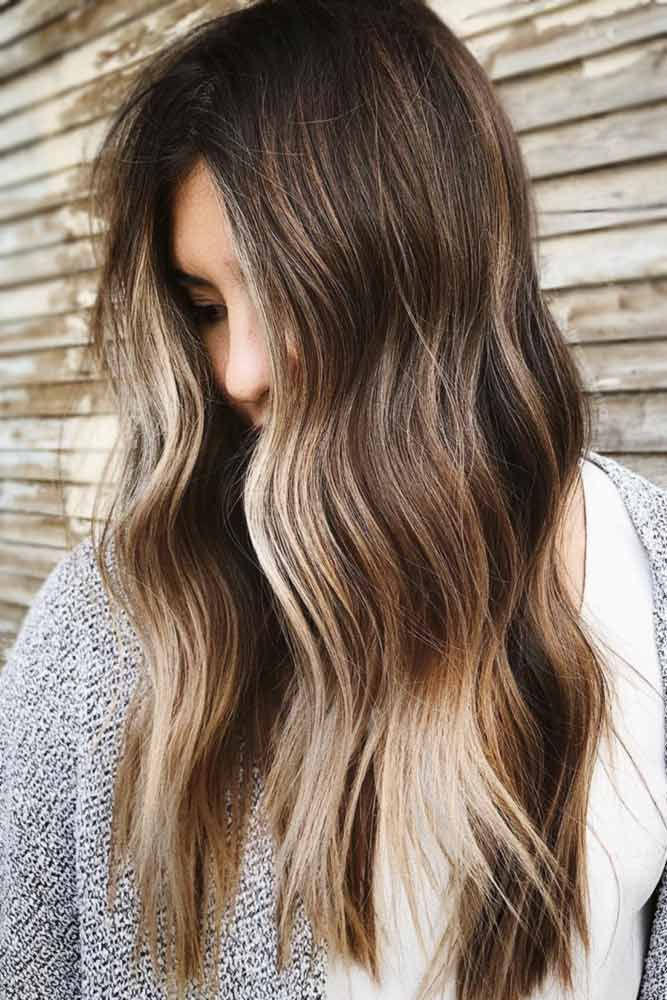 Sunny Vibes For Dark Brunettes #highlights #brunette #wavyhair ❤️ Fancy acce...