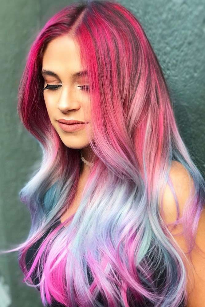Triple Unicorn Ombre #unicornhair #ombre ❤️ Want to pull off unicorn hair? A...