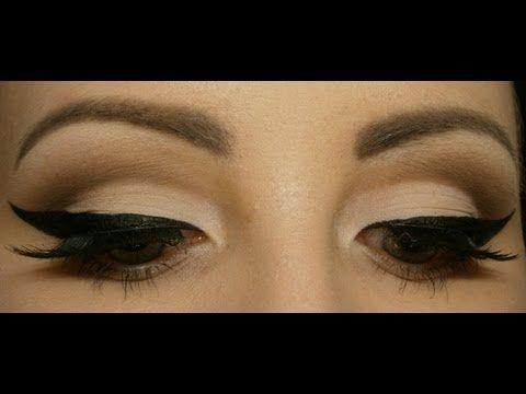 ▶ Pin-up/Rockabilly makeup tutorial - YouTube minus the dramatic cat eye