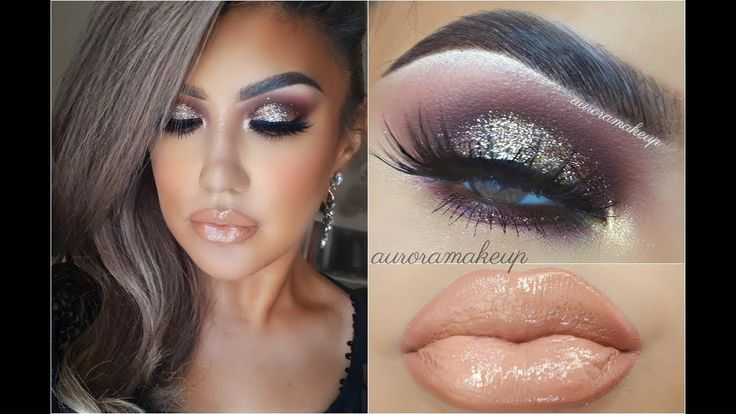 ✨GLAM  ahumado con brillos / 🔥Glitter Smokey Eyes Makeup Tutorial| auror...