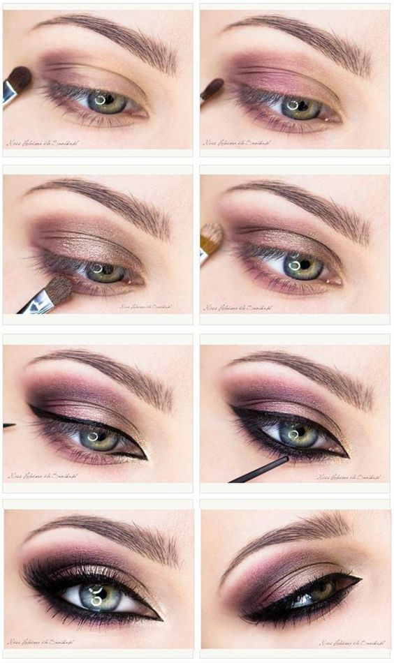 15 Step-By-Step Smoky Eye Makeup Tutorials for Beginners: #4. Brown Smoky Eye wi...