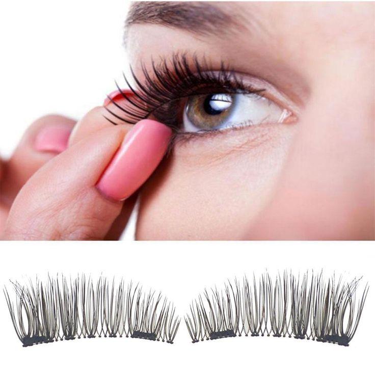 2017 Fashion Classic 3D Magnetic False Eyelashes Extension Tools Natural Makeup ...