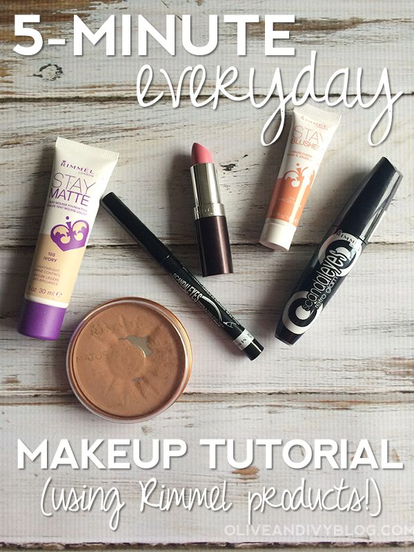 5-minute everyday makeup tutorial using Rimmel London US products from Walmart -...